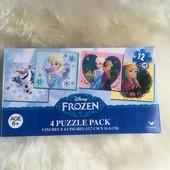 Фирменные пазлы Frozen Disney 4в1!!!!!