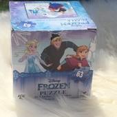 Пазлы Disney Frozen 63 элемента!!! 26.3см. * 23.1 см. размер готовой картинки!!!