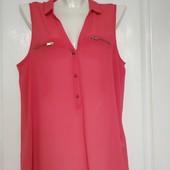 Яркая блуза из креп-шифона New Look, размер 14