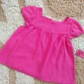 Яркая летняя блуза Nutmeg для девочки 7-8 лет. Сток!