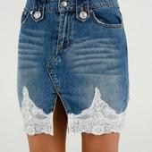 Классные джинсовые юбочки XS-S
