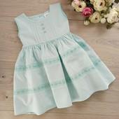 Нежное платье для малышки 3-6мес. Ориентироваться на замеры. M&S. хорошее состояние.