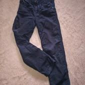 Темно синие велюровые джинсы на флисе