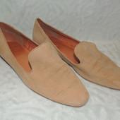 Туфли кожа натуральная и замша лоферы next 6/39 размер 26,5 см