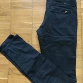 летние брюки джинсы с эффектом потёртости (состарены)