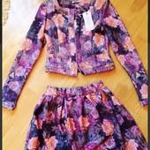 Костюм ( пиджак юбка ) новый