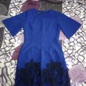 Платье костюмка с ажурным низом