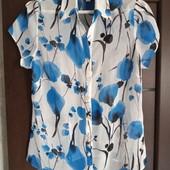 Фирменная новая шифоновая красивая блуза р.12-14