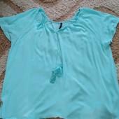 Роскошная удлиненная блуза для роскошной женщины, размер 32 (eur 60)