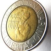 монета Сан-Марино, 500 лир 1994
