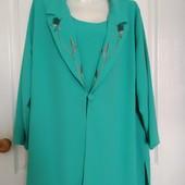 Роскошный костюм Kay Marie: кардиган+блуза с вышивкой, размер 26. Люксовый сток!
