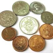 монеты островных государств, 9 шт одним лотом
