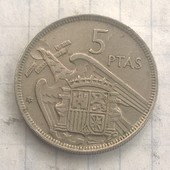 Испания 5 песет 1957