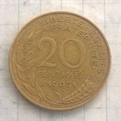 Франция 20 сантимов 1968