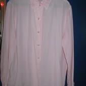 Нарядная блузка-рубашка с жемчужными пуговицами,размер 16,C&A