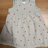 Трикотажное платье - бодик рост 92.