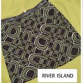Классная юбка от River Island(Англия) с абстрактным принтом и поясом из экокожи.