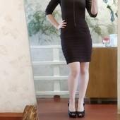 Коричневое платье (можно на выпускной, как школьная форма)