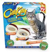 Обучающий лоток, набор для приучения кошек к унитазу - citikitty cat toilet training kit