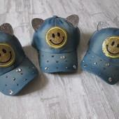 Джинсовая кепка для девочек р 46-48 В лоте одна