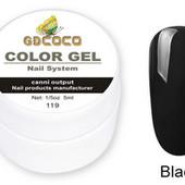 Гель-краска GDСосо №119 5ml Черный