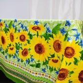 Подсолнухи Красивая практичная скатерть из хлопка 100*150 см