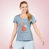 ❀Уютная хлопковая футболка для дома и отдыха, от Esmara® Lingerie, Германия, евро 40/42 (наш 46/48)