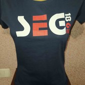 spread shirt.хлопковая футболка с принтом  S замеры