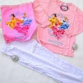 Комплект: Піжама + сумка для зміного одягу Disney 6(нюанс-кліпси на штанах і кофті, треба зняти)