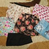 Пакет одежды: 6 летних юбок, с-м (неполный л)