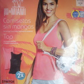2 шт., женские ребристые топы Esmara®, р. евро L 44/46, в упаковке.(замеры в описании)