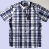 Мужская сорочка с коротким рукавом Bruun&Stengade (Дания) размер 40