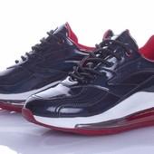 Крутые модные кроссовки на платформе 38, р в магазинах от 500 грн, чёрные с синим отливом