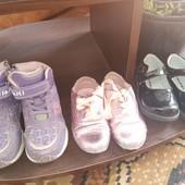 3 пари дитячого взуття для дівчинки