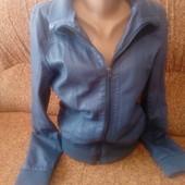 Женская куртка мягкий кожзам jean pascale
