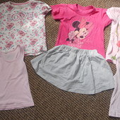лот одягу для дівчинки 2-3-4 роки 7 речей
