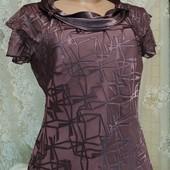 Шифоновая блуза с шелковыми рисунком