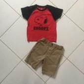 Футболка и шорты на 3-4 года