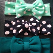 Трикотажные повязочки для девочки размер 48-52 на выбор