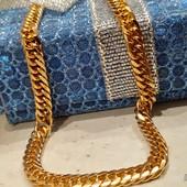 супер! шикарный браслет, плетение - двойное панцирное, 18 см, шир 4 мм, позолота 585 пробы