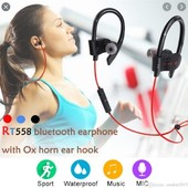 Беспроводные спортивные Bluetooth наушники rt 558 с креплением на ухо, для спорта