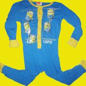 Хб человечек .пижамка с Миньонами на 3-4 года