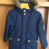 Куртка,деми, внутри шерпа, размер 5-6 лет 116 см. Primark. состояние отлично