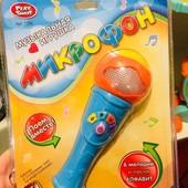 Микрофон с песней, музыкой и подсветкой