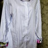 Собираем лоты!! Модная рубашка в полоску, размер 48,100 %котон