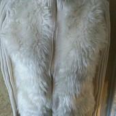 Классная кофта с мехом спереди, без дефектов