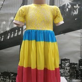 Платье с гепюром для девочки! Смотрите замеры! Ограничено больше не будет!Два на выбор!