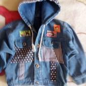 Джинсовая курточка на 3 - 4 года см. замеры
