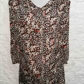 Красивая блуза в принт M&S pp 24