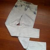 34-36р. Светлые джинсы-варёнки-скины New look, отличное состояние, замеры